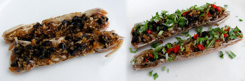 Pissing Shrimp with garlic and black bean