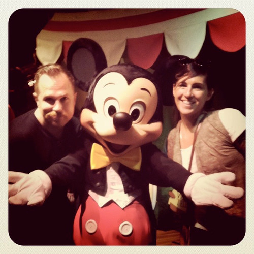 Us with Mickey Mouse at Disneyland California - July 2011