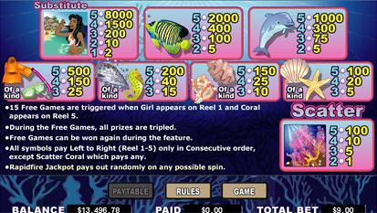 free Coral Cash Slots slot payout