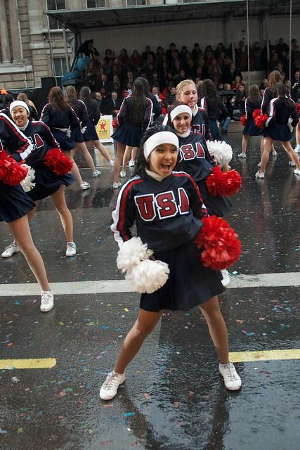 Cheerleaders in the rain | Flickr - Photo Sharing!