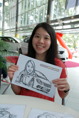 Caricature live sketching for Tan Chong Nissan Almera Soft Launch - Day 1 - 18