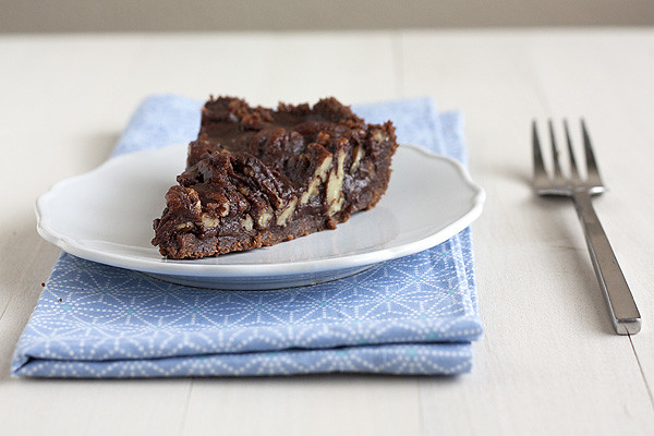 Pecan, Caramel, and Fude Pie Recipe