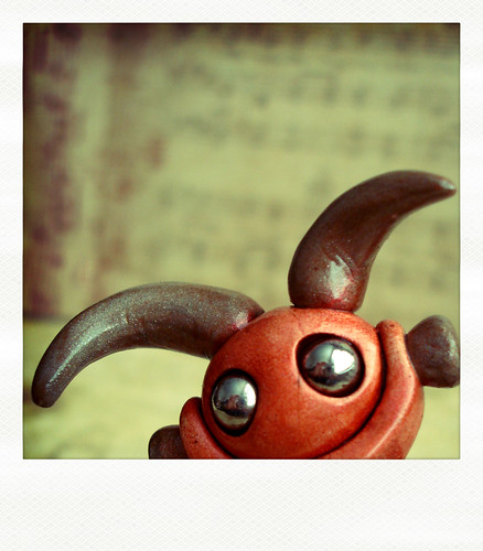 Sneak Peek | Horn-y little robot by HerArtSheLoves