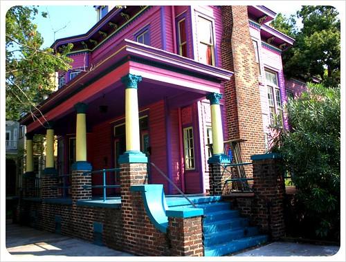 savannah purple yellow house