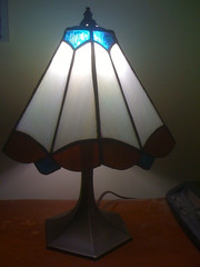lamp, light fixture, lampshade, light, glass, iron, lighting,