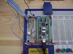 breadboard, circuit component, microcontroller, electrical wiring, electrical network, electricity, computer hardware, electronic engineering,
