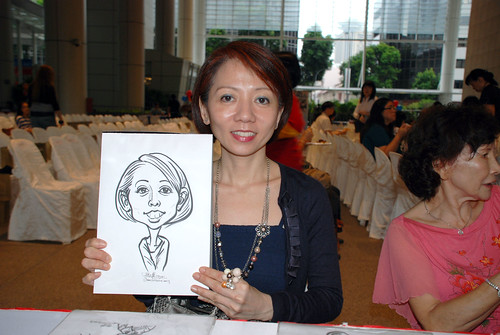 caricature live sketching for kidsREAD Volunteer Appreciation Day 2011 - 2