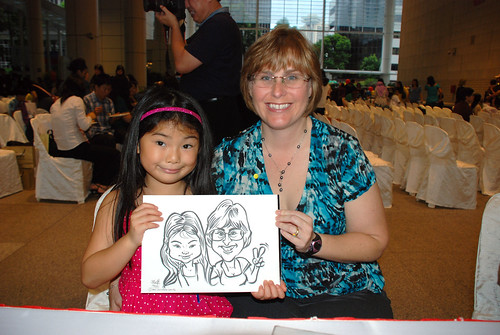 caricature live sketching for kidsREAD Volunteer Appreciation Day 2011 - 5