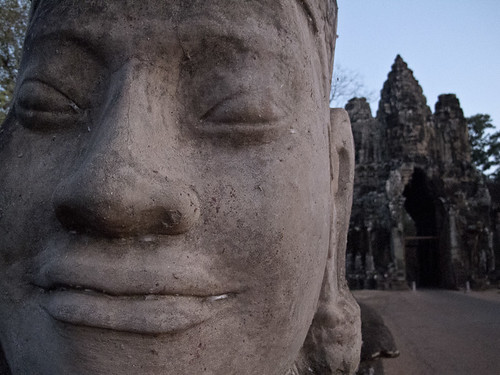 Statue on bridge - Angkor Thom