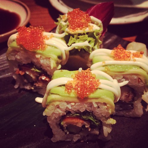 Avocado Soft Shell Crab Roll, Sun Dining