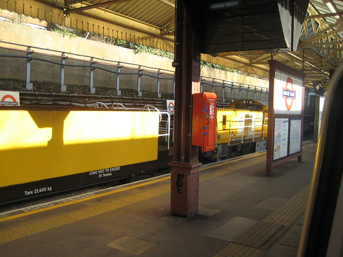 London Underground Trans Plant Train at Barons Court