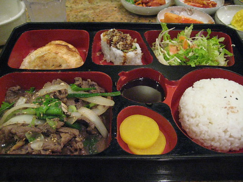 Beef Bulgogi Box at Shin Chon
