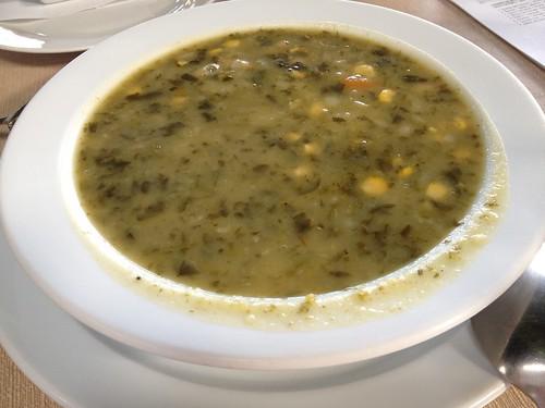Potaje de berros en el restaurante El Silbo, en Hermigua