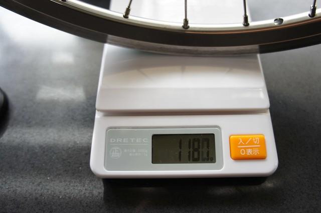 Bruno ROAD20(2011) リアホイールの重量