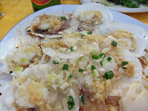 Steamed Garlic Scallops