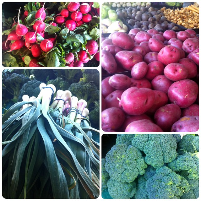 Hollywood farmer's market in January