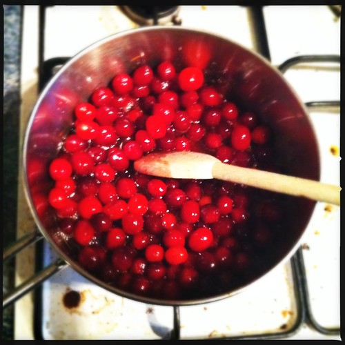 Cooking cranberries