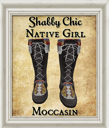 Shabby Chic Native Girl Moccasins by Shabby Chics