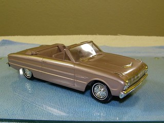 1963 Ford Falcon Futura Convertible Promo Model Car  - Rose Beige Poly