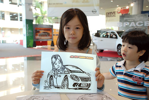 Caricature live sketching for Tan Chong Nissan Motor Almera Soft Launch - Day 4 - 16