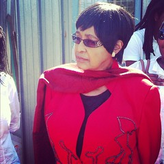 Winnie Mandela visits Sheffield Road Cape Town