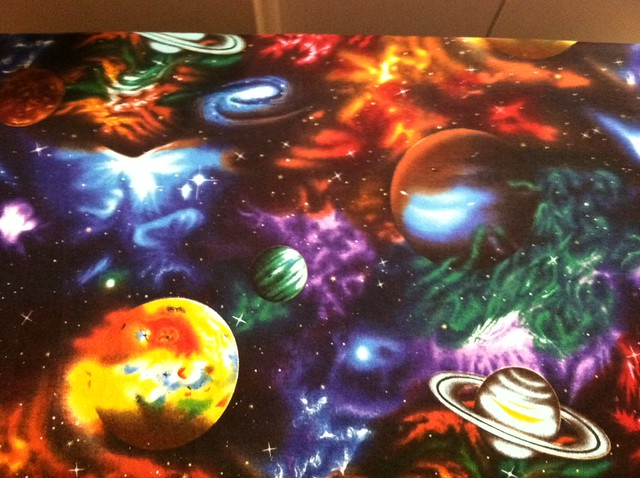 Is this not the coolest space fabric ever flickr for Space is not fabric