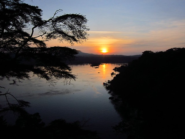 Sunset Over Bujagali (Former) Falls