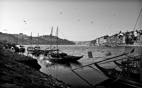 Rabelo Boat at the Oporto Riverside