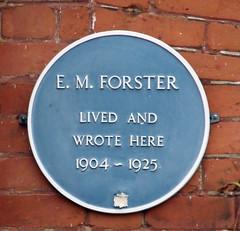 Photo of E. M. Forster blue plaque