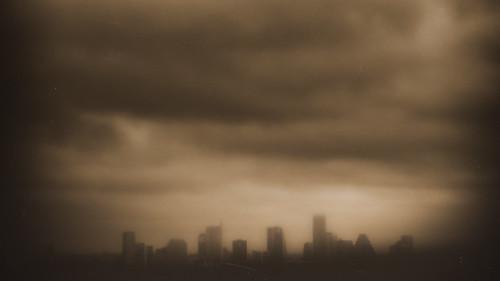 monochrome skyline clouds austin dark landscape cityscape texas olympus atx odc austinskyline epl1 ourdailychallenge odc3