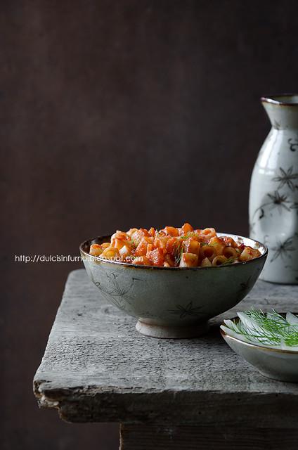 Tubetti ai Finocchi e Pomodoro- Pasta with Fennel and Tomato Sauce