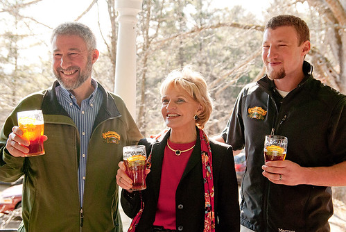 Sierra Nevada announcement with Gov. Bev Perdue and others