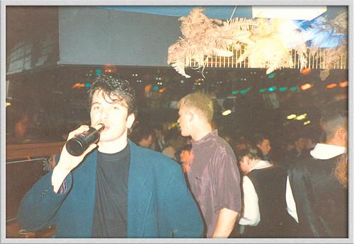 """Arabellas Night Club : Early 90's : """" Psycho Alley """" or Church St : Preston : Agfa 100 Film : Yashica """" T """" camera :"""