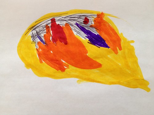 Map of the world through the eyes of a 4 year old. #creativeplay #drawing