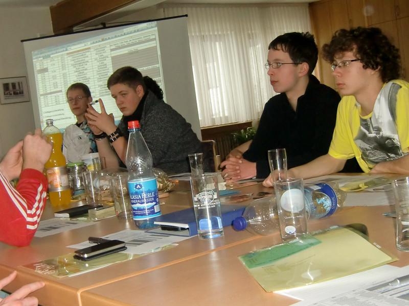 Gruppenleiter im Gespräch