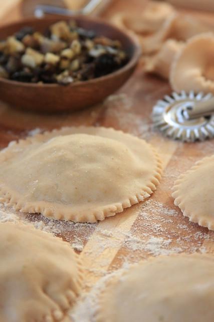 Portabello and Shallot Ravioli with Toasted Walnuts