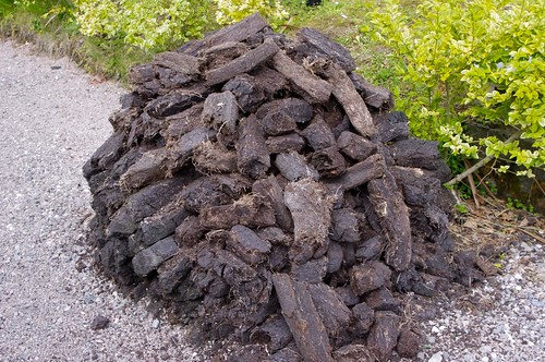 Peat pile for heating the cottage