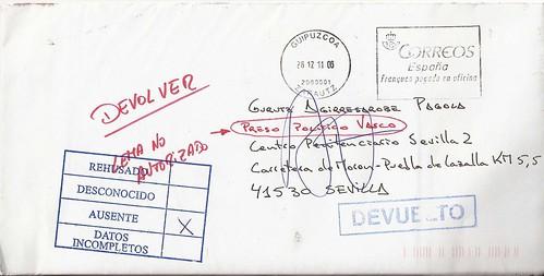 carta devuelta