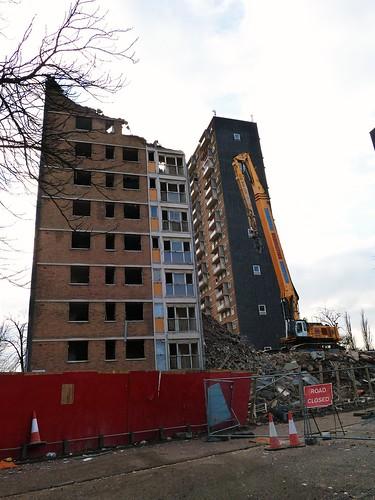 Demolition in progress, Govan