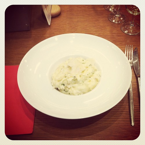 cod and potato puree