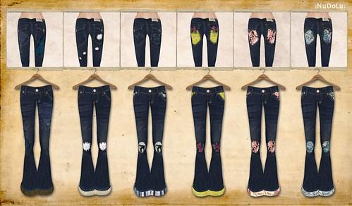 NuDoLu Jeans vintage 2012 backprint AD
