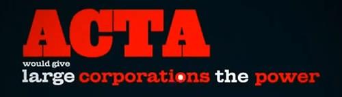 ACTA   interneto priešas numeris vienas! NE ACTA!