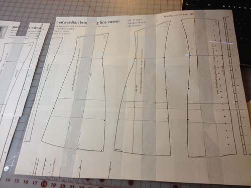 Edwardian Corset Pattern drafting