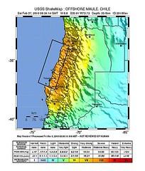Maule Earthquake 2010 USGS IntensityMap