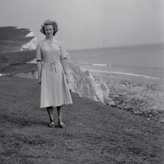 Pretty Girl at Beachy Head 40s