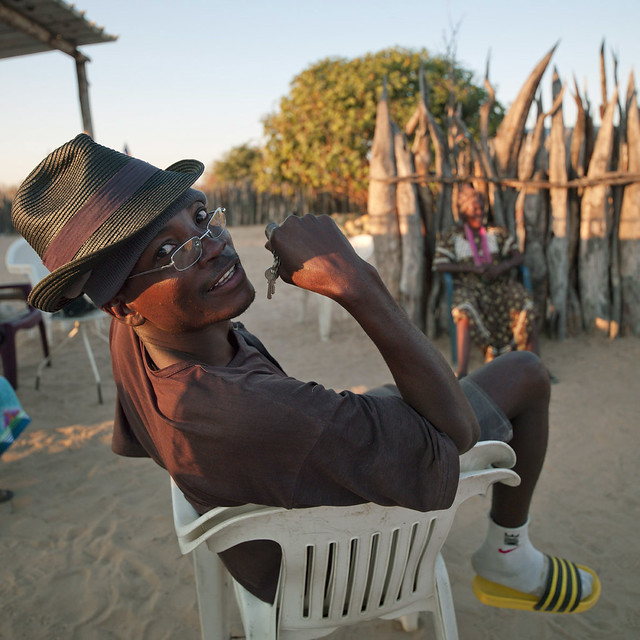 Ovambo Preacher On A Plastic Chair, Ruacana Area, Namibia