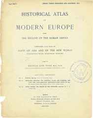 Title page from Part XXIV of Historical atlas of modern Europe from the decline of the Roman empire : comprising also maps of parts of Asia and of the New world connected with European history