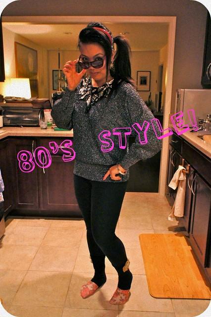 Elsie 80's look - yeah!