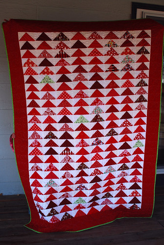 Flying Geese Christmas Quilt