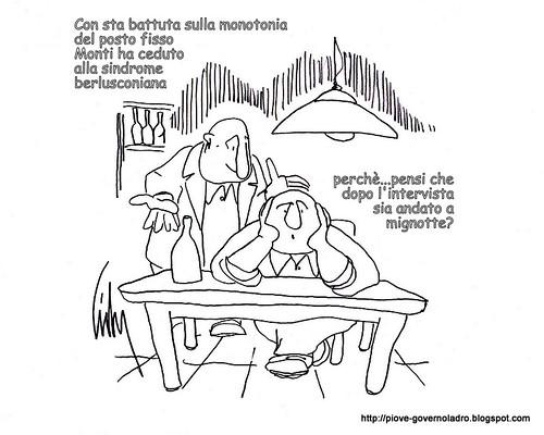 La monotonia del posto fisso e la sindrome berlusconiana by Livio Bonino